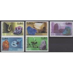 Cuba - 2004 - No 4181/4185 - Minéraux - Pierres précieuses