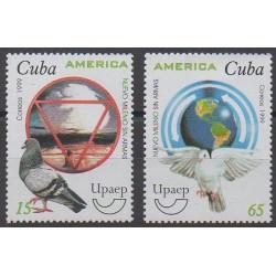 Cuba - 1999 - No 3838/3839 - Oiseaux