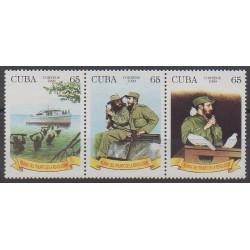 Cuba - 1999 - Nb 3777/3779 - Various Historics Themes