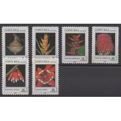 Costa Rica - 1989 - No 510/515 - Fleurs