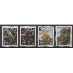Costa Rica - 1990 - No 536/539 - Oiseaux - Arbres - Service postal