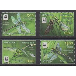 Belarus - 2010 - Nb 707/710 - Insects - Endangered species - WWF