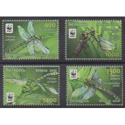 Biélorussie - 2010 - No 707/710 - Insectes - Espèces menacées - WWF