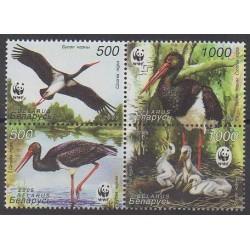 Biélorussie - 2005 - No 531/534 - Oiseaux - Espèces menacées - WWF