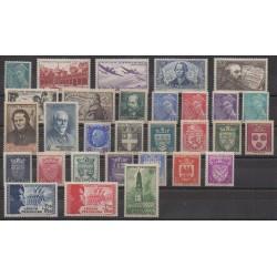 France - 1942 - Nb 538/567