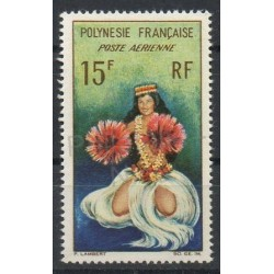 Polynesia - Airmail - 1964 - Nb PA7 - Costumes