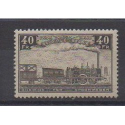 Belgium - 1935 - Nb CP199 - Trains - Mint hinged