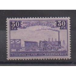 Belgique - 1935 - No CP198 - Chemins de fer - Neuf avec charnière