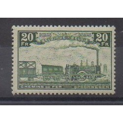 Belgium - 1935 - Nb CP197 - Trains - Mint hinged