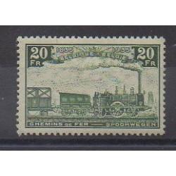Belgique - 1935 - No CP197 - Chemins de fer - Neuf avec charnière