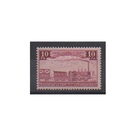 Belgique - 1935 - No CP196 - Chemins de fer - Neuf avec charnière