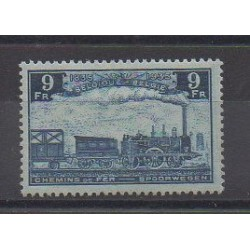 Belgium - 1935 - Nb CP195 - Trains - Mint hinged