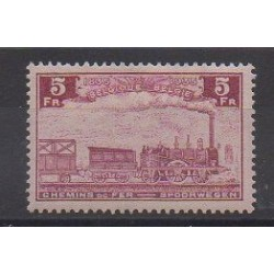 Belgium - 1935 - Nb CP191 - Trains - Mint hinged