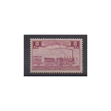 Belgique - 1935 - No CP191 - Chemins de fer - Neuf avec charnière