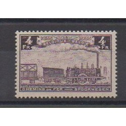 Belgium - 1935 - Nb CP190 - Trains - Mint hinged