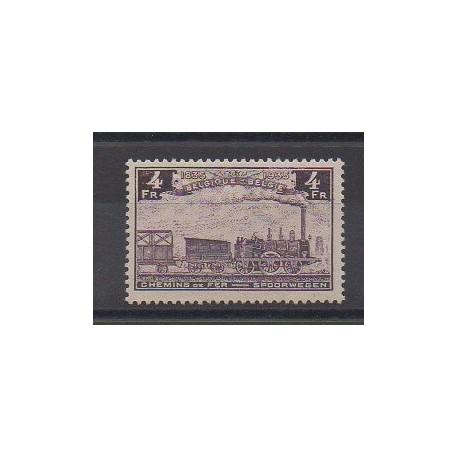 Belgique - 1935 - No CP190 - Chemins de fer - Neuf avec charnière