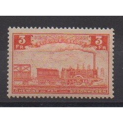 Belgium - 1935 - Nb CP189 - Trains - Mint hinged