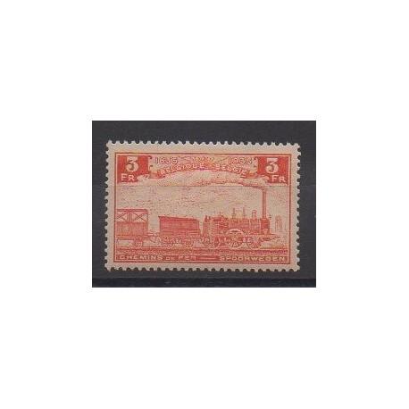 Belgique - 1935 - No CP189 - Chemins de fer - Neuf avec charnière