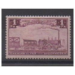 Belgique - 1935 - No CP187 - Chemins de fer - Neuf avec charnière