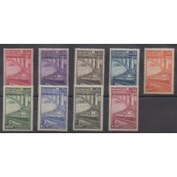 Belgium - 1935 - Nb CP178/CP186 - Trains - Mint hinged
