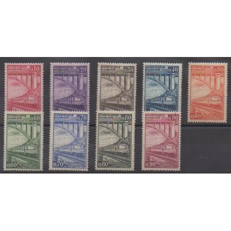 Belgique - 1935 - No CP178/CP186 - Chemins de fer - Neufs avec charnière