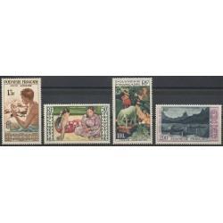 Polynésie - Poste aérienne - 1958 - No PA1/PA4 - Art