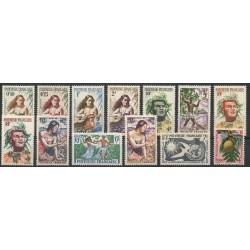 Polynésie - Année complète - 1958 - No 1/13