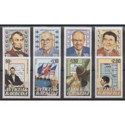 Antigua et Barbuda - 1984 - No 743/750 - Célébrités