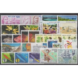 New Caledonia - Complete year - 1991 - Nb 607/628 - PA276/PA279 - BF11
