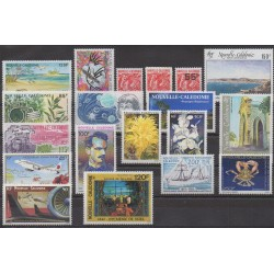 New Caledonia - Complete year - 1993 - Nb 636/653 - PA296/PA309 - BF15