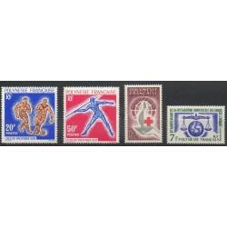 Polynésie - Année complète - 1963 - No 22/25