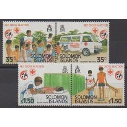 Salomon (Iles) - 1989 - No 670/673 - Santé ou Croix-Rouge