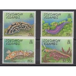 Solomon (Islands) - 1989 - Nb 674/677 - Sea animals