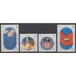 Solomon (Islands) - 1989 - Nb 678/681 - Space