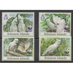 Salomon (Iles) - 2013 - No 1487/1490 - Oiseaux - Espèces menacées - WWF