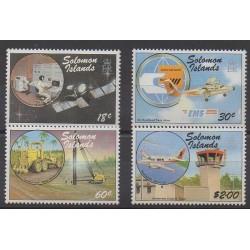 Solomon (Islands) - 1987 - Nb 634/637 - Transport - Telecommunications