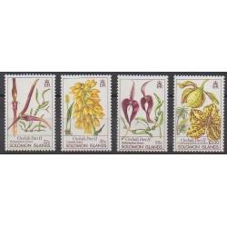 Solomon (Islands) - 1988 - Nb 666/669 - Orchids
