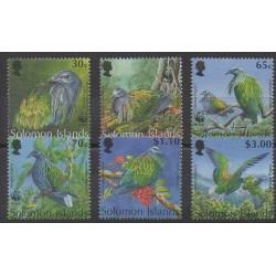 Salomon (Iles) - 1993 - No 798/803 - Oiseaux - Espèces menacées - WWF