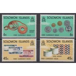 Salomon (Iles) - 1977 - No 340/343 - Monnaies, billets ou médailles