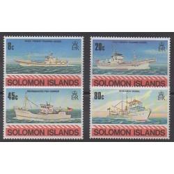 Solomon (Islands) - 1980 - Nb 402/405 - Boats