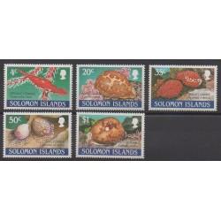 Solomon (Islands) - 1990 - Nb 696/700 - Sea animals