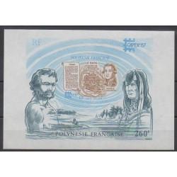 Polynésie - Blocs et feuillets - 1987 - No BF13 - Navigation - Philatélie