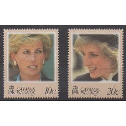Caïmans (Iles) - 1998 - No 806/807 - Royauté - Principauté