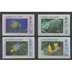 Caïmans (Iles) - 1990 - No 652/655 - Animaux marins