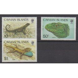 Cayman ( Islands) - 1987 - Nb 607/609 - Reptils