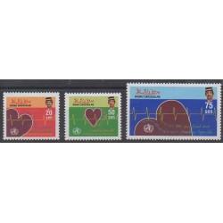 Brunei - 1992 - No 440/442 - Santé ou Croix-Rouge