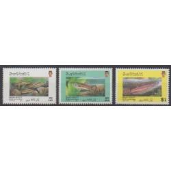 Brunei - 1991 - Nb 439A/439C - Sea animals