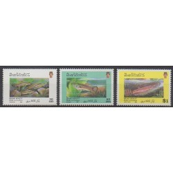 Brunei - 1991 - No 439A/439C - Animaux marins