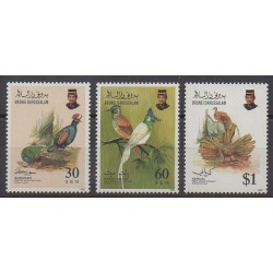 Brunei - 1992 - No 457/459 - Oiseaux