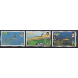 Brunei - 1992 - No 443/445 - Télécommunications